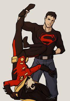 Resultado de imagen para superboy x robin