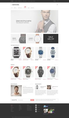 Watches Online Store #WooCommerce #template. #themes #business #responsive