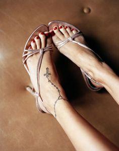 Cross Foot Tattoo
