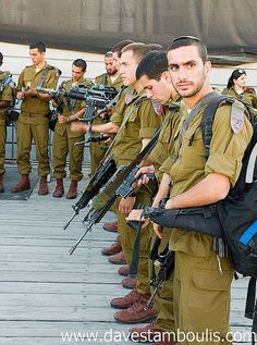 Soldiers at the Wall ~ Jerusalem ~ God, pls protect Your soldiers and give them strength to endure.