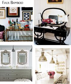 Whether you are wanting a whimsical touch or a splash of Hollywood Regency a little faux-bamboo adds a bit of zesty personality to a space.