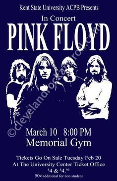 Pink Floyd - Live 1973 Retro Art Print — FRAMED — Print of Retro Concert Poster — Features Nick Mason, Roger Waters, Richard Wright, Syd Barrett and David Gilmour. Pink In Concert, Pink Floyd Concert, Concert Rock, Pop Rock, Rock And Roll, Tour Posters, Band Posters, Music Posters, Event Posters