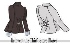 Cheap & Chic DIY: 2 Ways to Reinvent a Thrift Store Blazer   College Fashion