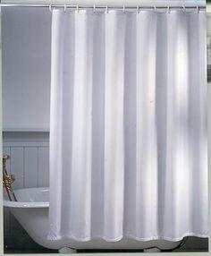 Unicolor Miljø badeforhæng, hvid B:120 cm x H:200 cm