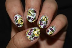 Nails By Celine: Handpainted floral
