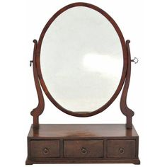 Antique Sheraton Mahogany Dressing Mirror (775 PLN) ❤ liked on Polyvore featuring home, home decor, mirrors, mahogany mirror and hinged mirror
