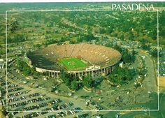 Rosebowl, Pasadena, California postcard c. 1985