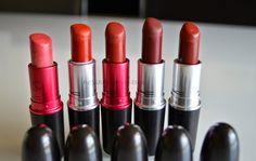 NOSINMYMAKEUP: MAC / Labiales rojos y borgoñas