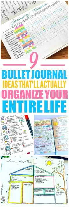 These 9 bullet journal ideas are THE BEST! I'm so glad I found these AMAZING ideas! Now I have some ideas on how to start a bullet journal. These are great weekly spreads! Such a great layout!