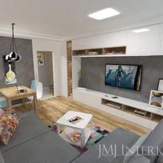 kolorowy dywan, betonowa ściana w salonie, Flat Screen, Blood Plasma, Flatscreen, Dish Display