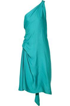 BCBGMAXAZRIA Draped charmeuse dress