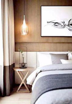 Gray Bedroom, Trendy Bedroom, Bedroom Colors, Home Decor Bedroom, Modern Bedroom, Bedroom Furniture, Master Bedrooms, Bedroom Ideas, Bedroom Headboards
