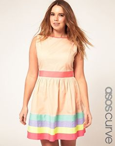 ASOS CURVE Exclusive Dress With Ribbon Trim