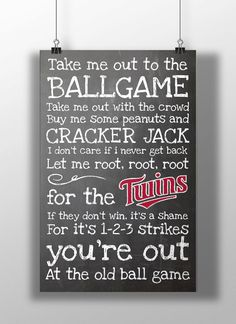 Minnesota Twins Take Me Out to the Ballgame by BigLeaguePrints, $12.00