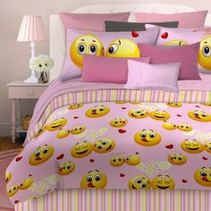 Queen Beds For Teenage Girls Emoji Smiley Fa...