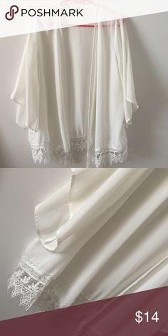 White kimono White eleven at any occasional kimono. It's so fancy haha it can be for the beach, park, out with friends, dinner..etc!! Charlotte Russe Tops Tunics