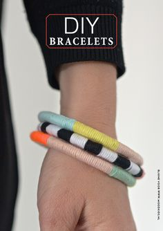 diy bracelet ideas - DIY Armband van restjes katoen & gordijnring | Moodkids