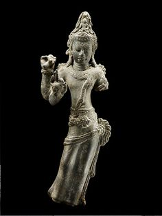 The cult of the bodhisattva, including the messianic Maitreya Buddha of the future, attracted a strong following from the seventh century onward in Southeast Asia. | Bodhisattva Avalokiteshvara, late 7th century. Central Myanmar. Lent by National Museum of Myanmar, Yangon (1650) #LostKingdoms