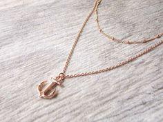 Rose Gold Anker und Satelliten-Kette Halskette von AGildedBee