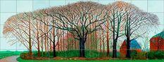 Hockney, 'Bigger Trees Near Water or/ou Peinture sur le Motif pour le Nouvel Age Post-Photographique', 2007
