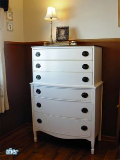 Dresser redo. I have one just like this that could use some serious refinishing. :)