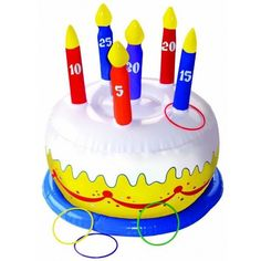 Inflatable Birthday Cake Ring Toss Game
