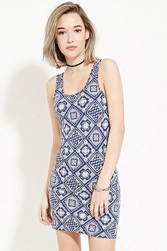Paisley Print Bodycon Dress