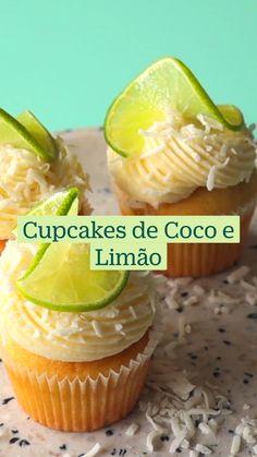 Fun Baking Recipes, Cupcake Recipes, Sweet Recipes, Dessert Recipes, Cooking Recipes, Muffins, Snacks, Diy Food, Coconut Lime Cupcakes