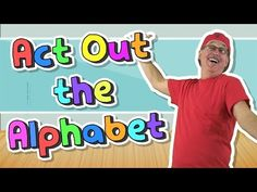 Act Out the Alphabet is a fun kinesthetic letter sounds song. It's one of my favorites because it engages children in creative active movement. Music For Kids, Yoga For Kids, Exercise For Kids, Preschool Music, Kindergarten Music, Preschool Plans, Preschool Classroom, Classroom Activities, Physical Activities
