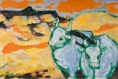 Landscape with Cattle by Julian Trevelyan