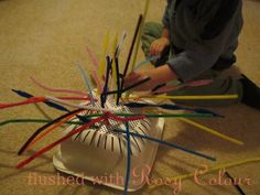 Flushed with Rosy Colour: Pipecleaners and a Strainer