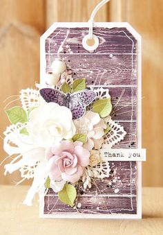 Gorgeous Tag by Olga using Prima Specialty flowers with Butterfly collection…