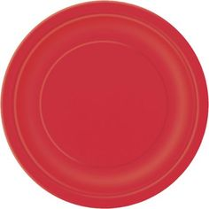 "Solid Red 9"" Plates, 20 Count - Walmart.com"
