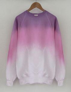 tumblr grunge hipster fashion | gradient sweater coloful colorblock cool streetwear fashion tumblr ...