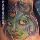 Monster Capo Gal Hand Tattoo by Joe Capobianco
