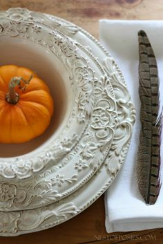 Thanksgiving Place setting....kellie i love everything about this!