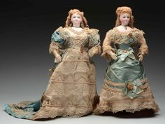 Pair Of All Original Sister Fashion Dolls.