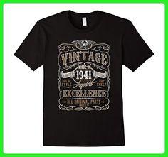 Mens Vintage 1941 Birthday Gift Idea T Shirt XL Black - Birthday shirts (*Amazon Partner-Link)