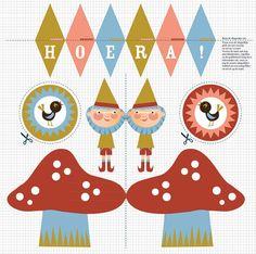 KnipBoek Kabouterfeest » Homemade Happiness - Knutsel zelf de leukste kinderfeestjes! Kant en klare KnipBoeken en printbare knipvellen