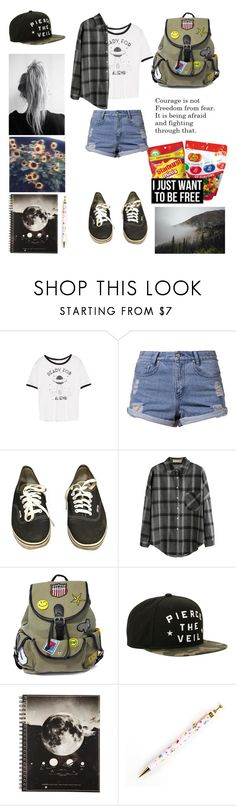 """Summer camp 🌼"" by ellafourni3r ❤ liked on Polyvore featuring WithChic, Somedays Lovin, Vans, Like Dreams, Hot Topic, Jelly Belly and GET LOST"