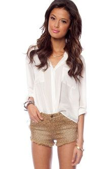 High-Waisted Leopard Shorts in Camel