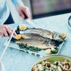 Whole Grilled Bass with Olives, Onion, and Artichoke | Recipe | Bass ...