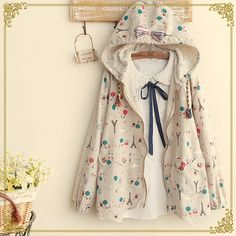 """Color:beige. Size:one size. Length:64cm/24.96"""". Bust:92cm/35.88"""". Sleeve length:60cm/23.40"""". Shoulder:37cm/14.43"""". Fabric material:cotton. Tips: *Please double check above size and consider your measu"""