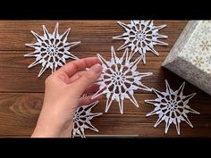 СНЕЖИНКА крючком + БЛОКИРОВКА (придание формы) - YouTube Crochet Snowflake Pattern, Christmas Crochet Patterns, Crochet Snowflakes, Snowflake Photos, Photo Cubes, Christmas Centerpieces, Scandinavian Christmas, Thread Crochet, Christmas Balls