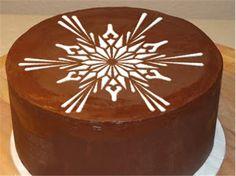 Large Crystal Snowflake Cake Top