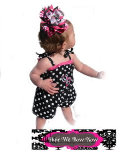 Minnie Mouse Birthday Outfit Custom Boutique Girls Clothing Jumper  OTT M2M Hairbow Dots Zebra Hot Pink Size 3m 6m 9m 12m 18m 24m 2T 3T 4T 5. $39.50, via Etsy.