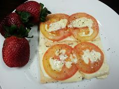 Hungry Hubby And Family: Lunchbox: Monday, 22 July 2013 - Cohen Diet Low Calorie Cheese, Low Calorie Recipes, Low Carb, Cohen Diet Recipes, Tomato Sandwich, Hcg Diet, Melted Cheese, Caprese Salad, Clean Eating