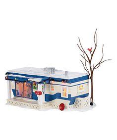 Look at this #zulilyfind! Lighted Snow Village 'Lot 58' Christmas Court Figurine…