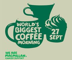 We're making Macmillan's World's Biggest Coffee Morning greener by hosting our own #coffeemorning. Join us on Fri 27th September between 9am to 12pm to raise money for people affected by cancer. http://www.thegardencentregroup.co.uk/worlds-biggest-coffee-morning13