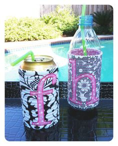 Personalized Can or Water Bottle Cozy Wedding Favor-Teacher Gift-CoWorker Gift-Stocking Stuffer